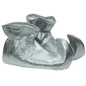 Silver Cloth Elf Shoes Christmas Costume Accessory