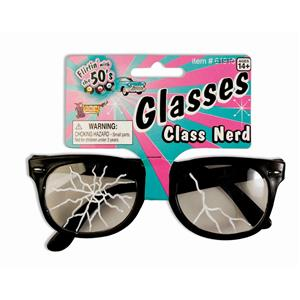 50's Cracked Nerd Costume Glasses