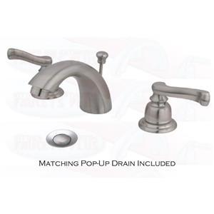 Kingston Bathroom Sink Faucet Satin Nickel KB958FL