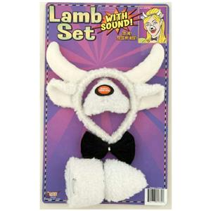 Lamb Accessory Kit Headband and Nose Ears Bow Tie Set with Sound