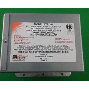 Parallax Power Supply 30 Amp Transfer Switch 120 VAC ATS301