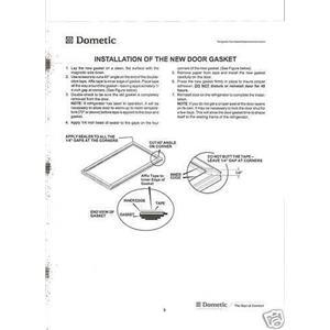 Dometic RV Refrigerator Door Gasket Kit 3108704382