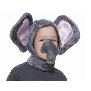 Elephant Animal Hood and Nose Child Costume Accessory Kit Farm Funny Circus