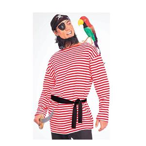 Red and White Striped Costume Pirate Matey Shirt