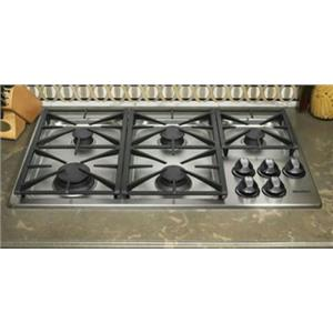 "Dacor Renaissance 36"" Brass Valves 5 Burners Natural Gas Cooktop RGC365SNG"