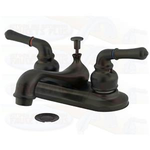 "Kingston Brass KB605NML Magellan 4"" Centerset Bathroom Sink Faucet - Oil Rubbed Bronze"