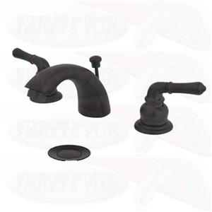 Kingston Brass KB955 Oil Rubbed Bronze Mini-Wide Spread Bathroom Faucet