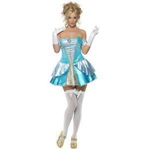 Fever Blue Dress Princess Cinders Adult Costume Size Medium Sexy Cinderella