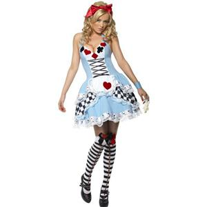 Fever Miss Wonderland Sexy Alice Adult Costume Size Medium