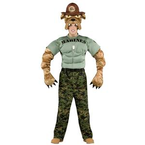 Military Mascot Marine Chesty The Bulldog Adult Costume