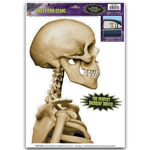 Skeleton Backseat Driver Car Window Cling Sticker Decal