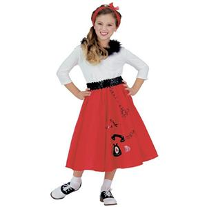 Jitterbug Girl 50's Child Costume Size Small 4-6