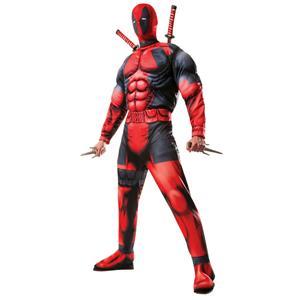 Men's Marvel Universe Classic Muscle Chest Deadpool Costume Standard Size