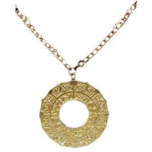 70's Disco Fever Gold Medallion Costume Accessory