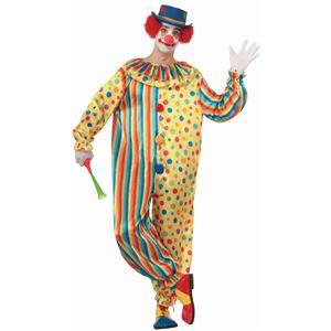 Spots the Clown Adult Polka Dot Striped Jumpsuit Size XL