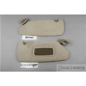2005-2011 Dodge Dakota Sun Visor Set with Passenger Side Mirror and Adjust Bars