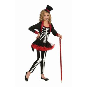 Forum Novelties Girl Ghoul Miss Bone Jangles Skeleton Child Costume Size Large