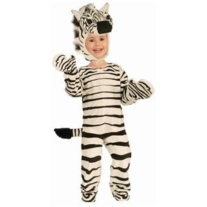 Kids Zebra Plush Child Costume Size Small 4-6