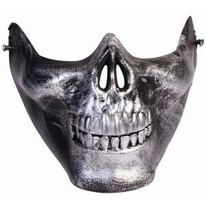 Silver Skull Lower Face Skull Venetian Half Mask