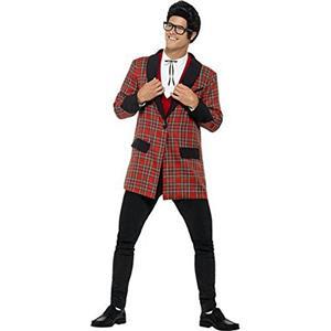 Smiffy's Men's 50's Teddy Boy Plaid Costume Size XL