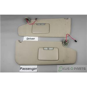 2006-2010 Jeep Commander Sun Visor Set with Covered Lighted Mirrors & Adjust Bar