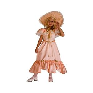 Peach Southern Belle Child Costume Size Small 4-6