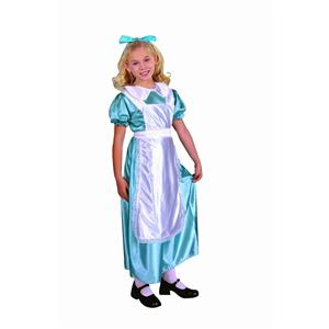 Alice The Blue Gown Child Costume Wonderland Size Medium 8-10
