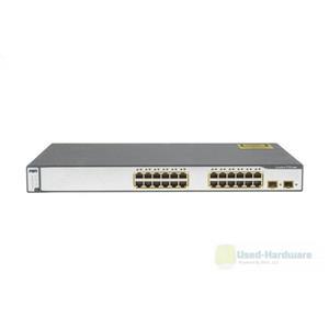 Cisco WS-C3750-24TS-E Catalyst 3750 24-Port 10/100 2 SFP Uplink Stackable Switch