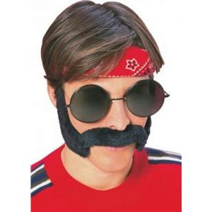 Hippie Porkchop Sideburns & Moustache Feelin Groovy Disguise Set