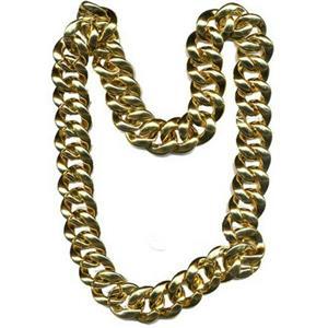 """36"""" Thick Gold Chain Necklace Pimp Gangster Hip Hop 80's Mr T"""