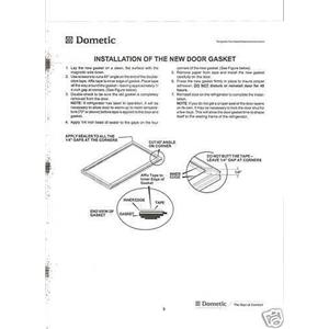 Dometic RV Refrigerator NDR1292 Door Gasket Kit 3108708466