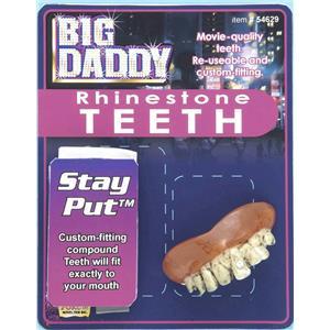 Big Daddy Rhinestone Teeth False Dentures Movie Quality