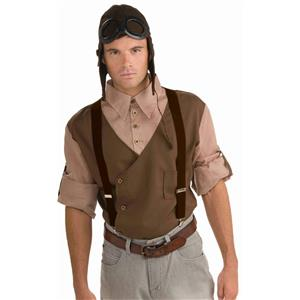 Dark Brown Steampunk Suspenders