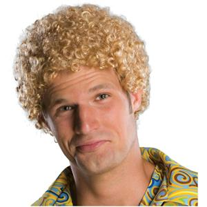 Justin Timberlake Tight Fro Blonde Afro Wig