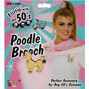 50's Sock Hop Poodle Brooch Fifties Accessory