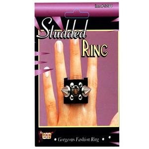 Studded Fashion Ring with Small Spikes