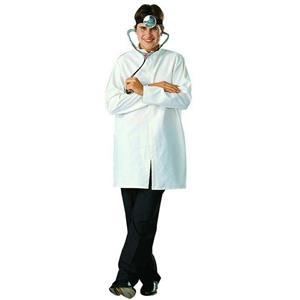 Doctor Lab Coat (White) Poplin Adult Costume Size Standard