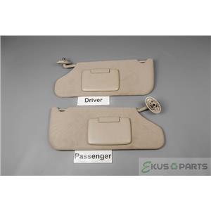 08-14 Dodge Avenger 11-14 Chysler 200 Sun Visor Set Covered Mirrors & Adust Bars