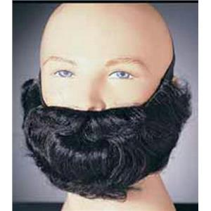 Black Character Costume Beard and Mustache Adult Men's Facial Hair Accessory
