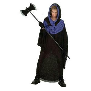 Boys Vengeance Horror Hooded Robe with Purple Collar Costume Small 4-6