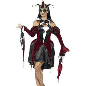 Gothic Venetian Harlequin Female Costume Size Medium