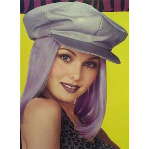 Lavender Glitter Cap Purple Hair Wig Party Go Go Girl