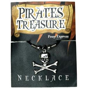 Pirates Treasure: Skull & Crossbone Necklace Accessory