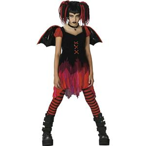 Lilith Goth Fairy Teen Costume Child Large 12-14