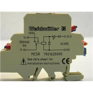 WEIDMULLER MC5R 790120000 250VAC/24VDC 6A TERMINAL RELAY (lot of 3)