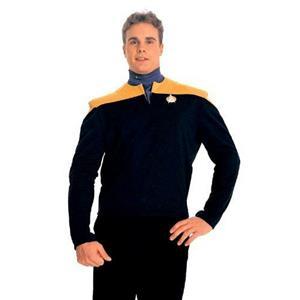Gold Star Trek Deep Space Nine Engineer Uniform Shirt Chief O'Brien Size Small