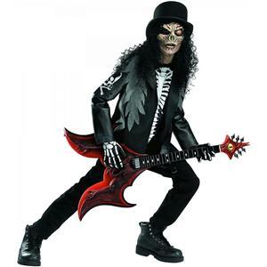 Cryptic Rocker Death Metal Skull Slash Boys Child Costume Size Medium 7-8