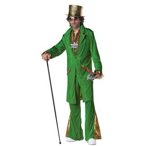 Men's Green Hustla Adult Pimp Costume Size Large 42-44