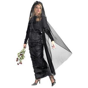 Deluxe Black Widow Plus Size Full Figure Adult Costume Dress 18-20