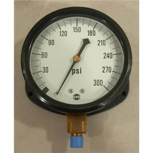 Ametek 5801, 0-300 PSI Pressure Gauge, 1/4 NPT LM, 4-1/2 face diameter
